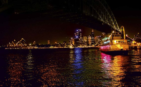 Sydney harbour charter cruise